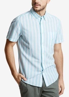 Nautica Men's Linen Vertical Stripe Shirt