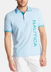 Nautica Men's Logo Graphic Polo