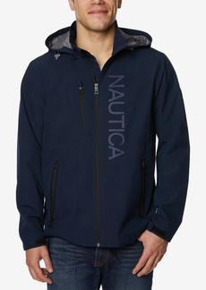 Nautica Men's Big and Tall Logo-Print Full-Zip Hooded Windslicker