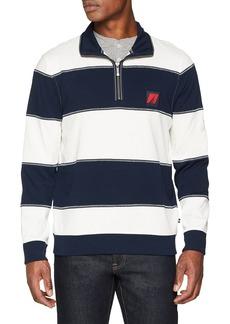 Nautica Men's Long Sleeve 1/2 Zip Heritage Sweatshirt