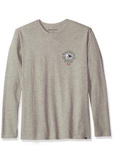 Nautica Men's Long Sleeve Back Graphic T-Shirt