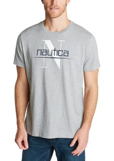Nautica Men's Long Sleeve Boat and Flag Tee Shirt