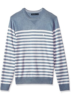 Nautica Men's Long Sleeve Bretton Stripe Crew Neck Sweater  3X-Large