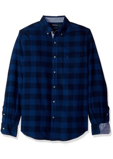 Nautica Men's Long Sleeve Buffalo Plaid Cozy Flannel Button Down Shirt