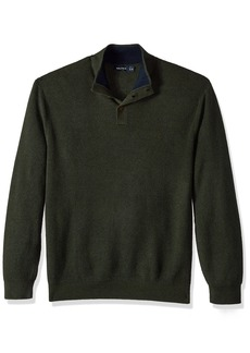 Nautica Men's Long Sleeve Button Mock Neck Sweater  3X-Large