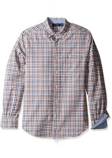 Nautica Men's Long Sleeve Check Plaid Button Down Shirt