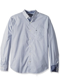 Nautica Men's Long Sleeve Clasic Fit Printed Button Down Shirt