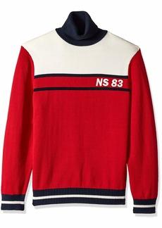Nautica Men's Long Sleeve Classic Turtle Neck Sweater red