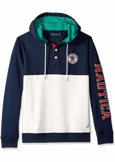Nautica Men's Long Sleeve Colorblocked Pullover Hoodie