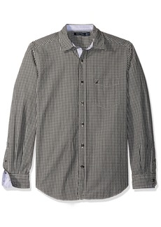Nautica Men's Long Sleeve Gingham Plaid Button Down Shirt