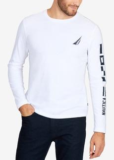 Nautica Men's Long-Sleeve Logo Graphic T-Shirt