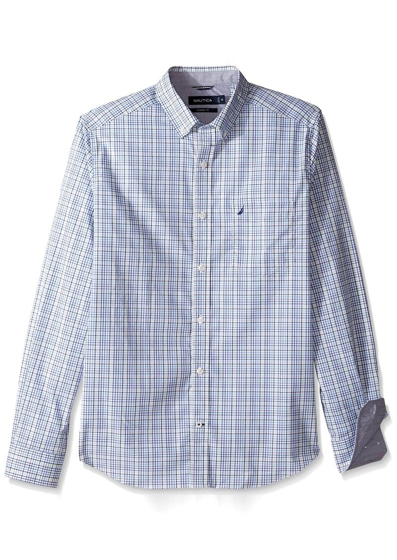 Sale nautica nautica men 39 s long sleeve medium plaid for Mens medium long sleeve shirts