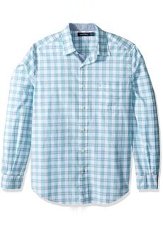 Nautica Men's Long Sleeve Large Plaid Button Down Shirt  X