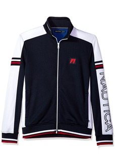 Nautica Men's Long Sleeve Retro Track Jacket