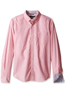 Nautica Men's Long Sleeve Solid Button Down Shirt Red