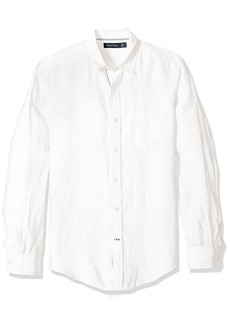 Nautica Men's Linen Solid Slim Fit Casual Shirt