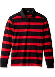 Nautica Men's Long Sleeve Striped Polo Shirt