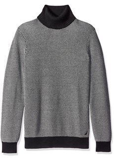 Nautica Men's Long Sleeve Turtle Neck Jacquard Sweater