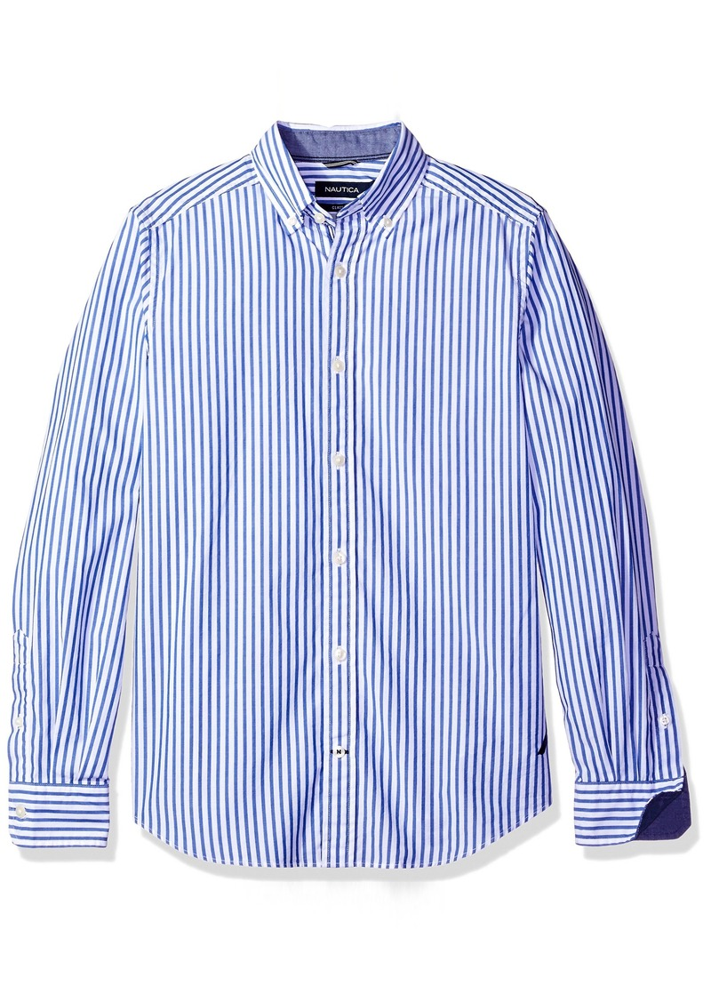 On sale today nautica nautica men 39 s long sleeve vertical for Mens long sleeve button down shirts