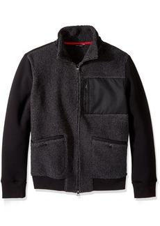 Nautica Men's Long Sleeve Zip Front Sherpa Knit Bomber Jacket