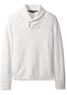 Nautica Men's Long Sleeve Zip Shawl Collar Pullover Sweatshirt