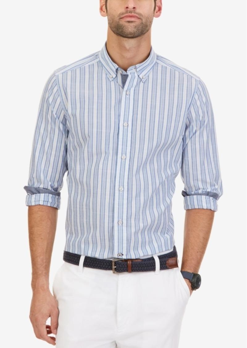 Nautica Men's Marina-Stripe Long-Sleeve Shirt