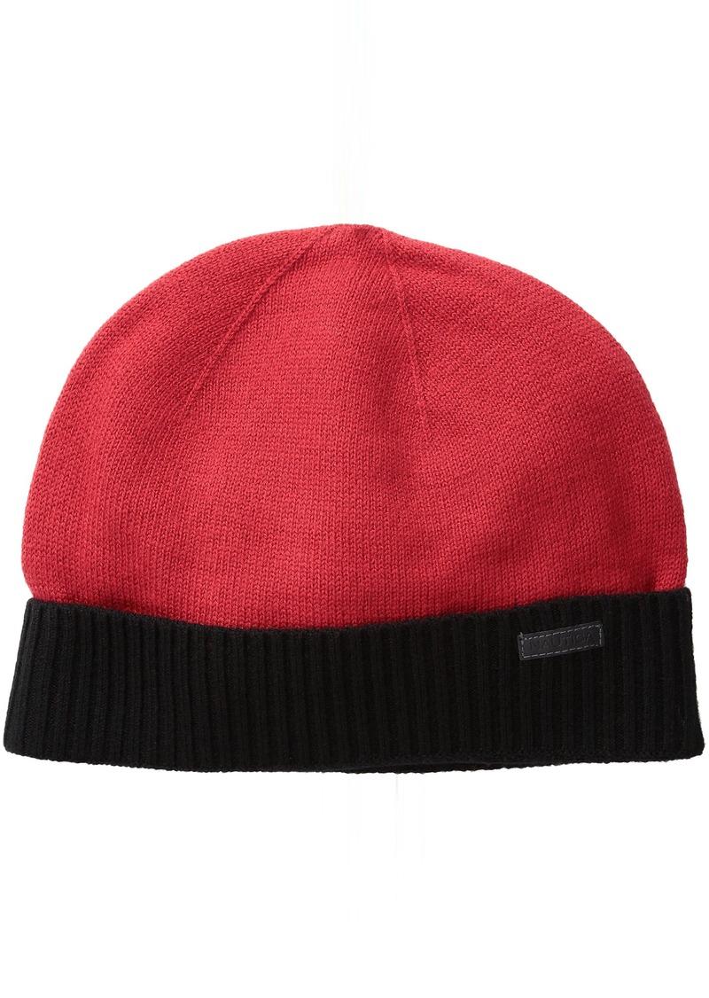 Nautica Nautica Men s Merino Wool Beanie Hat f17ceab6b2a