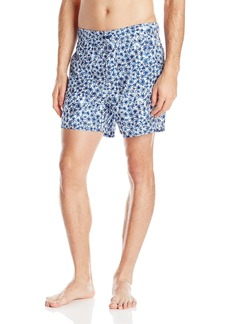 Nautica Men's Micro Floral Swim Trunk