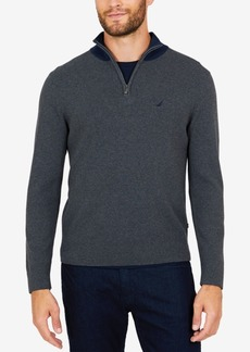 Nautica Men's Milano Quarter-Zip Sweater