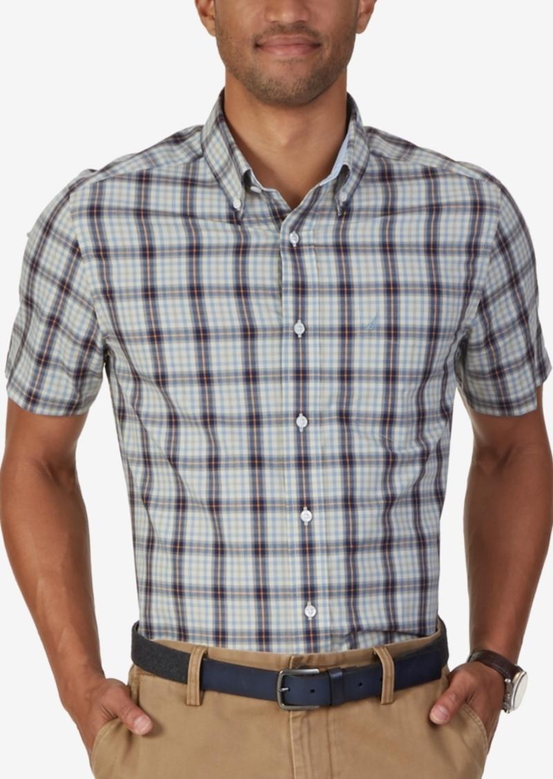 Nautica Men's Miles Non-Iron Plaid Short-Sleeve Shirt