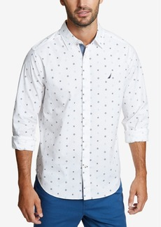 Nautica Men's Mini Anchors Printed Shirt