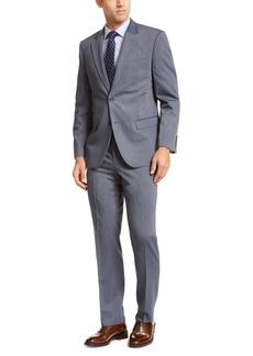 Nautica Men's Modern-Fit Bi-Stretch Navy Blue Stripe Suit