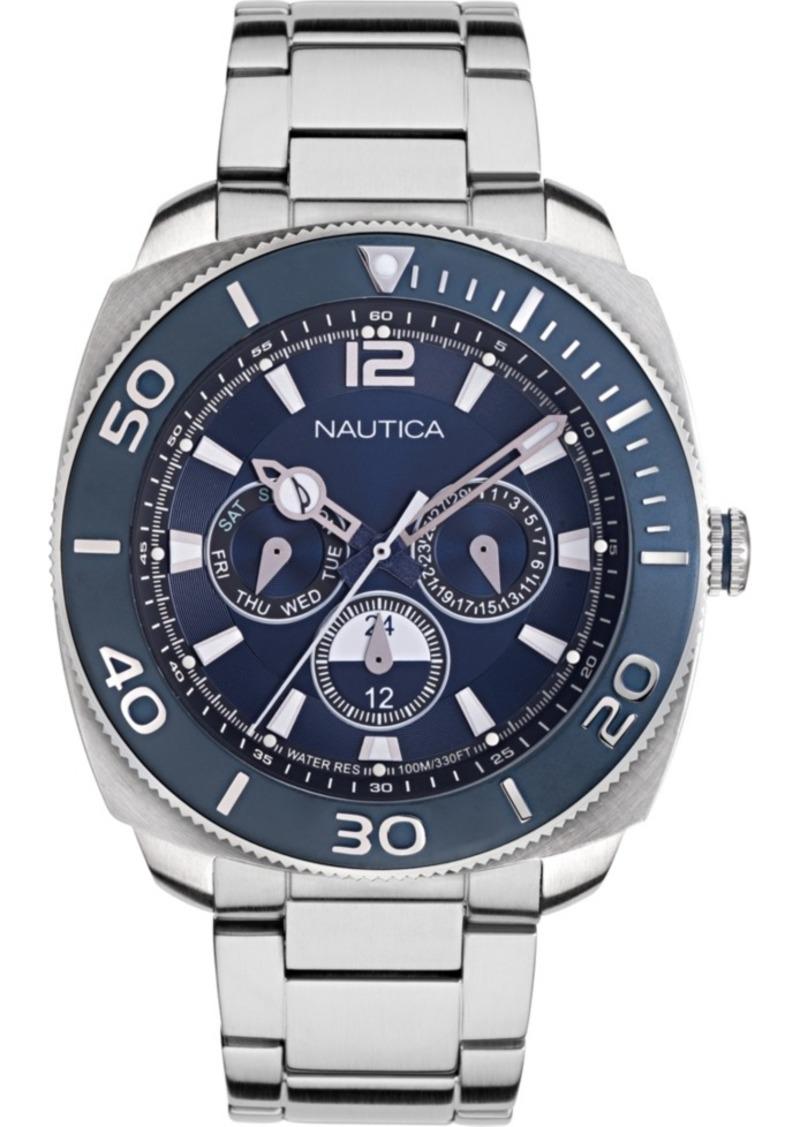 Nautica Men's NAPBHS904 Bal Harbour Silver/Navy Stainless Steel Bracelet Watch