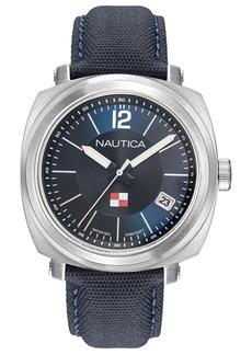 Nautica Men's NAPPGP901 Park Gate Navy Leather Strap Watch Box Set + Red Leather Strap