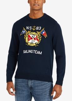 Nautica Men's Nautical Graphic Crewneck Sweater