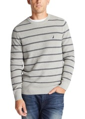 Nautica Men's Navtech Crewneck Striped Sweater