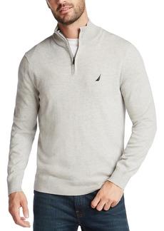 Nautica Men's NavTech Quarter-Zip Solid Sweater