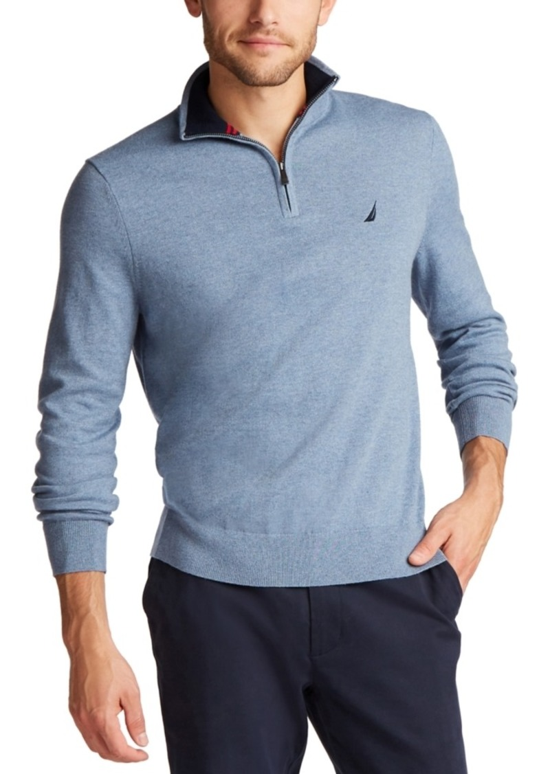 Nautica Men's Big & Tall Navtech Quarter-Zip Sweater