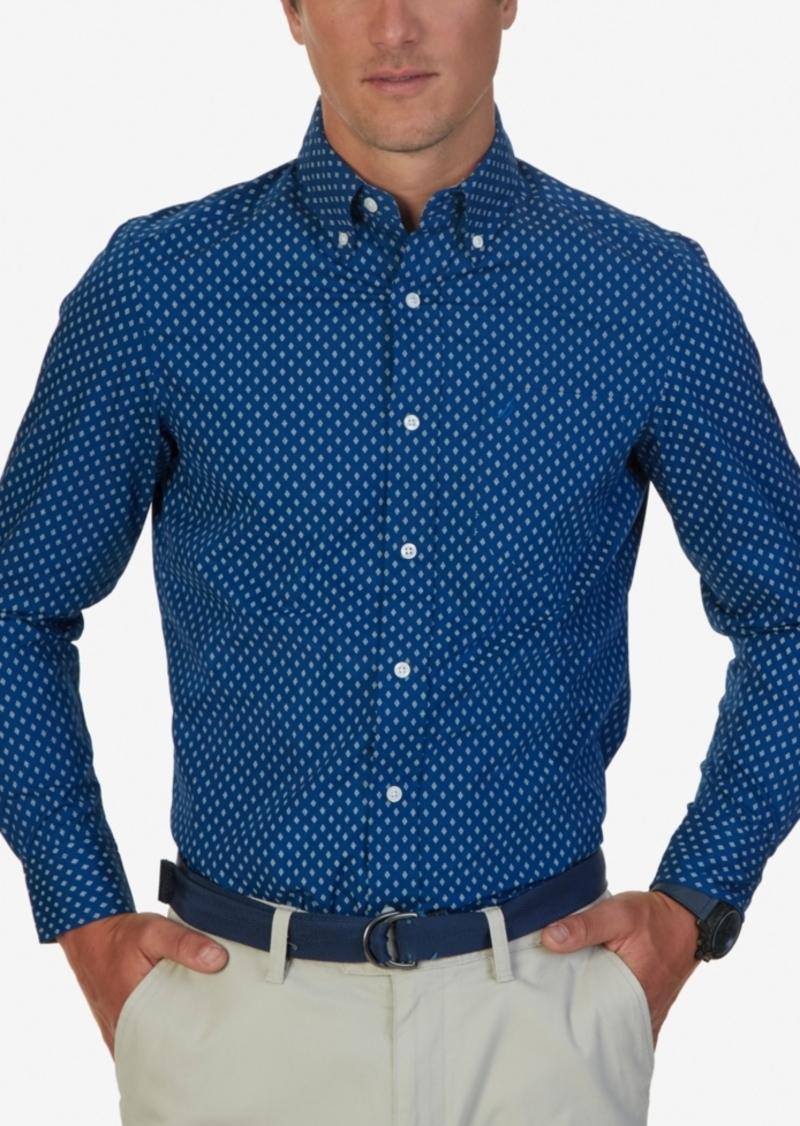 Nautica Men's Non-Iron Diamond Long-Sleeve Shirt