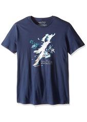 Nautica Men's Painted Island Map T-Shirt  M
