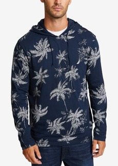 Nautica Men's Palm-Print Lightweight Hoodie