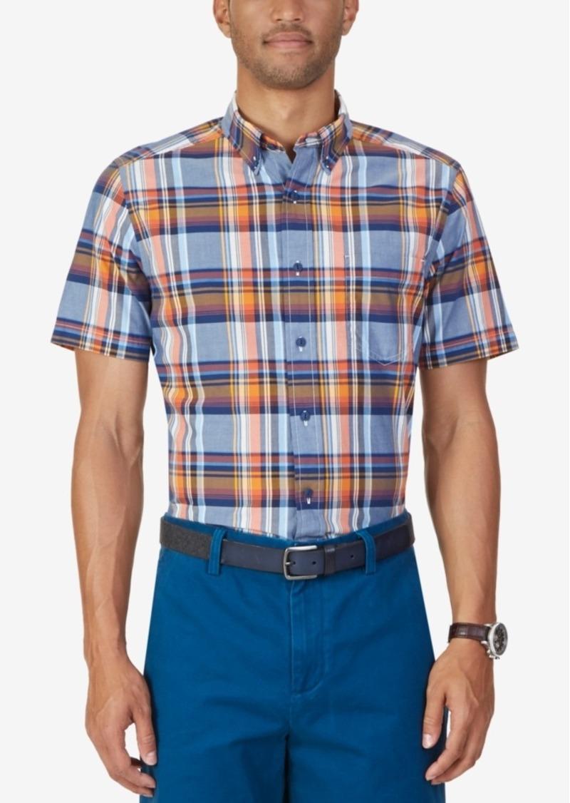 Nautica Men's Parker Plaid Short-Sleeve Shirt