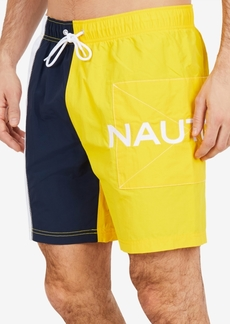 "Nautica Men's Patch Colorblocked 8"" Swim Trunks"
