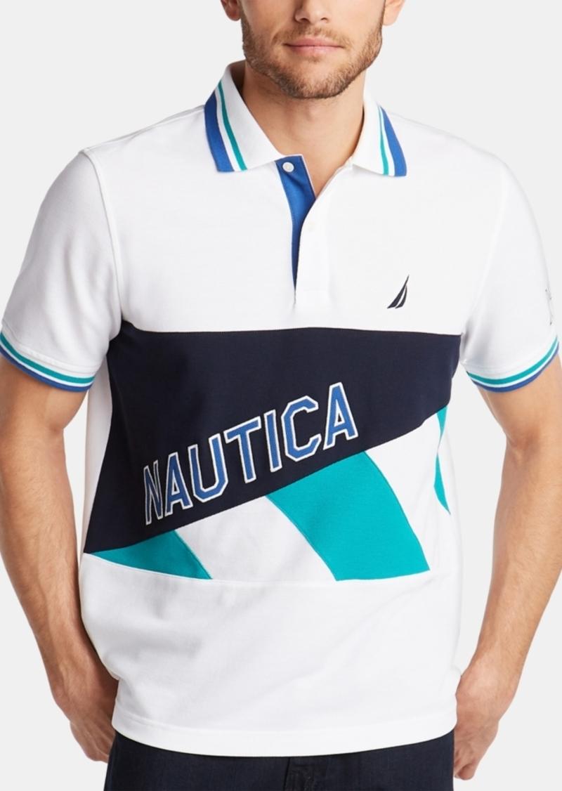 Nautica Men's Pieced Logo Polo