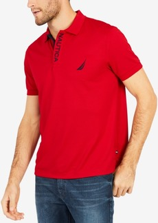 Nautica Men's Pique Performance Embroidered-Logo Polo