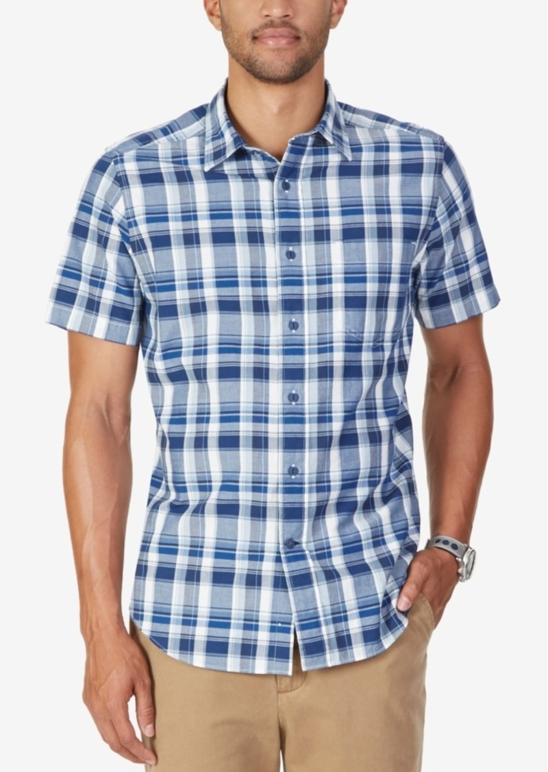 Nautica Men's Plaid Short-Sleeve Shirt