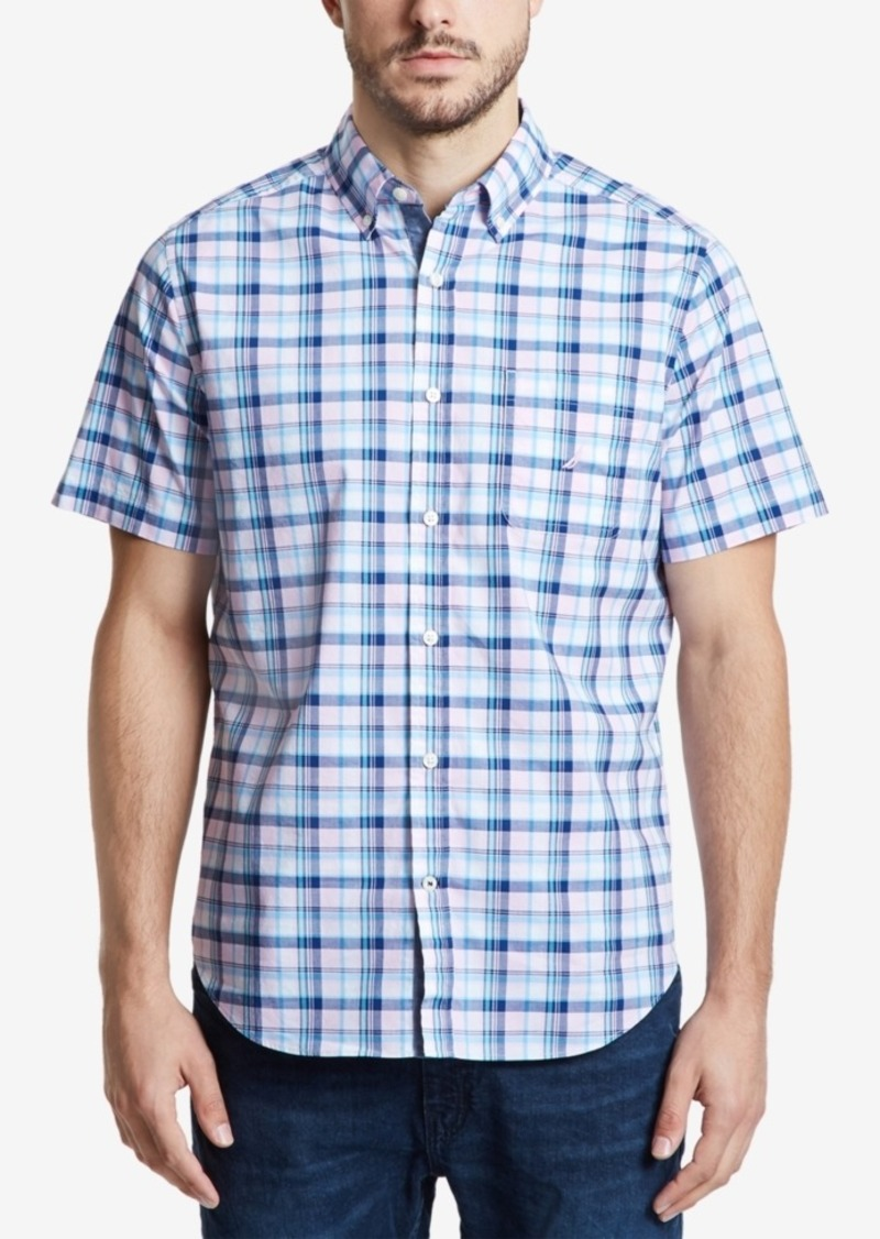 Nautica Men's Plaid Short Sleeve Shirt