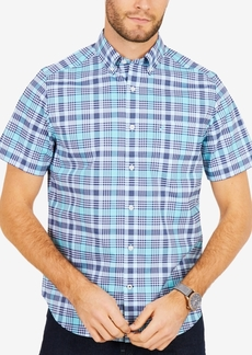 Nautica Men's Plaid Stretch Shirt