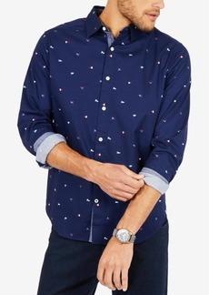 Nautica Men's Printed Flag Oxford Shirt