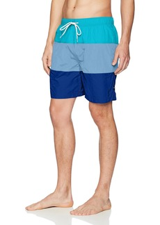 Nautica Men's Quick Dry Color Block Swim Trunk (t71007)